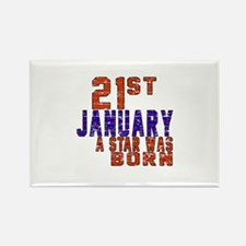 21 January Birthday Designs Rectangle Magnet