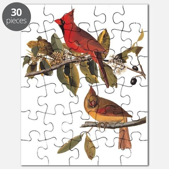 Cardinal Grosbeak Vintage Audubon Birds Puzzle