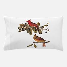 Cardinal Grosbeak Vintage Audubon Birds Pillow Cas