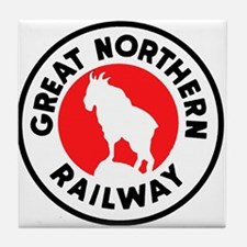 Great Northern Railway logo 2 Tile Coaster