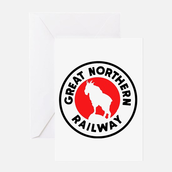 Great Northern Railway logo 2 Greeting Cards