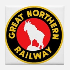 Great Northern Railway logo 4 Tile Coaster