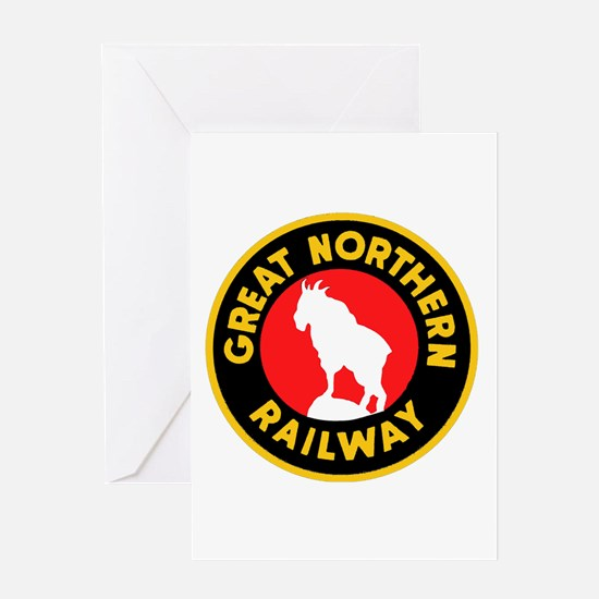 Great Northern Railway logo 4 Greeting Cards