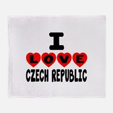 I Love Czech Republic Throw Blanket