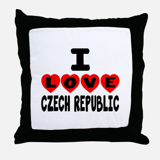 I Love Czech Republic Throw Pillow