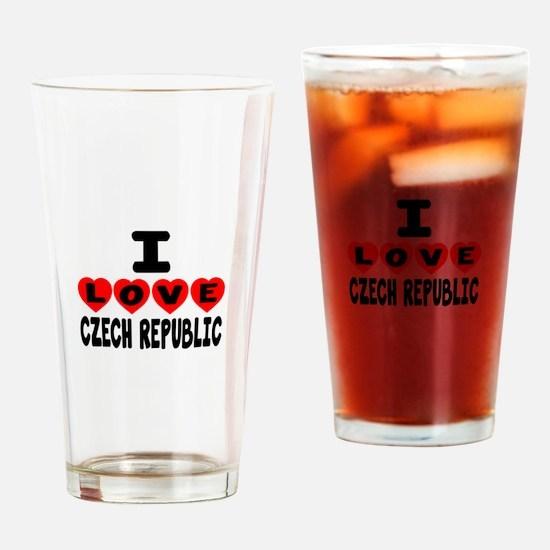 I Love Czech Republic Drinking Glass