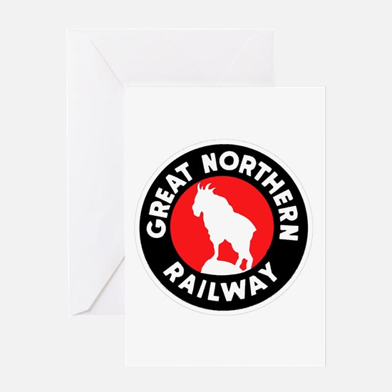 Great Northern Railway logo 3 Greeting Cards