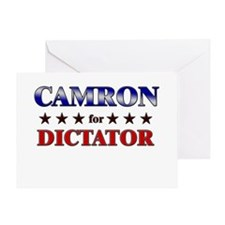 CAMRON for dictator Greeting Card