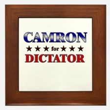 CAMRON for dictator Framed Tile