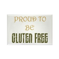 Proud to be Gluten Free ! Rectangle Magnet