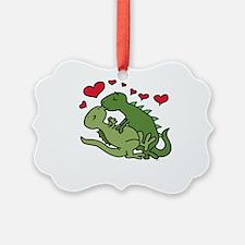 Kissing Dinosaurs Ornament