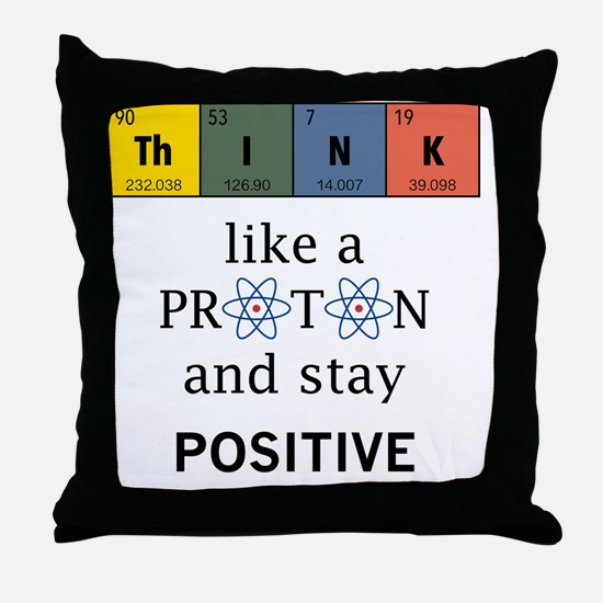 Cute Periodic table Throw Pillow
