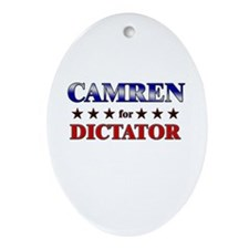 CAMREN for dictator Oval Ornament