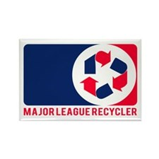 Major League Recycler 1 Rectangle Magnet