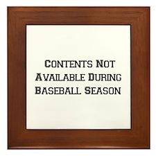Baseball Season Framed Tile