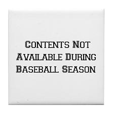 Baseball Season Tile Coaster