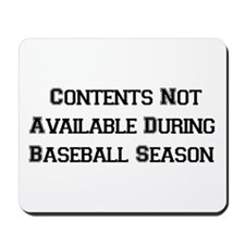 Baseball Season Mousepad