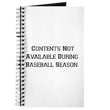 Baseball Season Journal