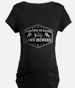 I'd Rather Be Racing Lawn M T-Shirt
