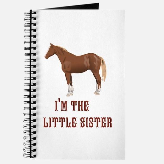 Im the little sister horse design Journal