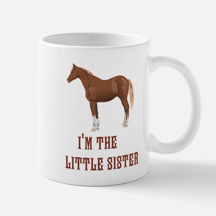 Im the little sister horse design Mugs