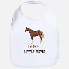 Im the little sister horse design Bib