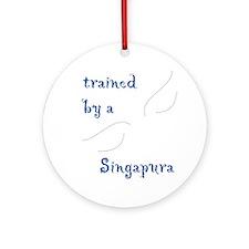 Trained by a Singapura Keepsake (Round)