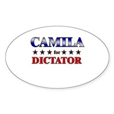 CAMILA for dictator Oval Decal