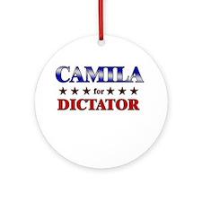 CAMILA for dictator Ornament (Round)