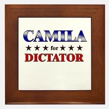 CAMILA for dictator Framed Tile