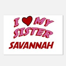 I Love My Sister Savannah Postcards (Package of 8)