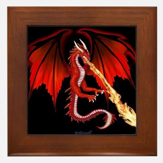 Devil Dragon Framed Tile