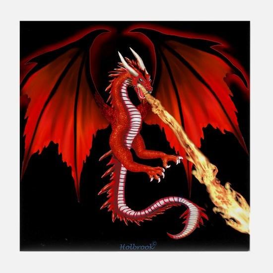 Devil Dragon Tile Coaster