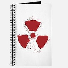 Splatter Radioactive Warning Symbol Journal