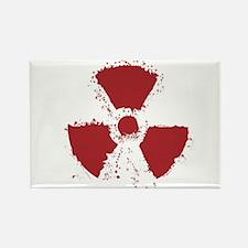 Splatter Radioactive Warning Symbol Magnets