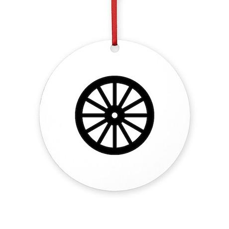 wagon wheel silhouette round ornament by admin cp133759785 Western Clip Art Wagon Wheel Clip Art Black and White