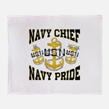 navy chief Throw Blanket