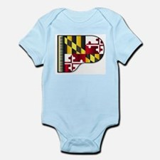 Grand Piano Maryland Flag Body Suit