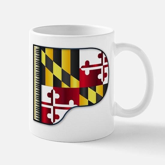 Grand Piano Maryland Flag Mugs