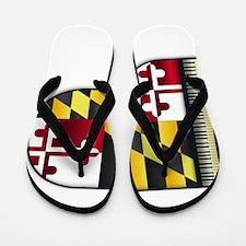 Grand Piano Maryland Flag Flip Flops
