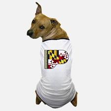 Grand Piano Maryland Flag Dog T-Shirt