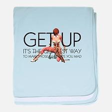 Get Up baby blanket
