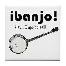 Bluegrass banjo! Old time banjo! Tile Coaster