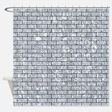 BRK1 BK-GY MARBLE (R) Shower Curtain