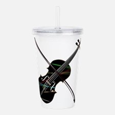 Country Fiddle Lazer L Acrylic Double-wall Tumbler