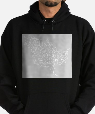 Mississippi River Map Hoodie (dark)