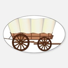 Covered Wagon Wheel Decal