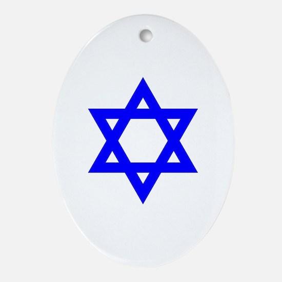 Cute Israel Oval Ornament