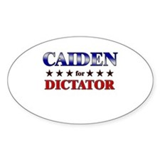CAIDEN for dictator Oval Decal