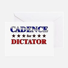 CADENCE for dictator Greeting Card